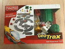 Fisher Price GeoTrax Rail and Road System Rail Track Pack NEW