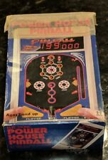 Vintage Tomy Power House Pinball Electronic Game W/Box Tested Works Nice