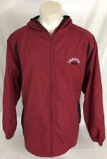 Indiana Hoosiers Red Full-Zip Jacket Hooded NCAA by KA Inc. Men's XL