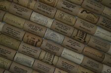PRE-CUT WINE CORKS 100 halves new with quotes and used. Winecork used for Craft
