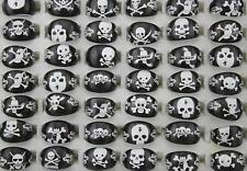 Fashion Job lots 50pcs Resin Lucite Child Skull Mixed Design Cute rings