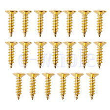 20 X Gold Scratch plate Pickguard Screws For Fender Strat Tele Guitar TW