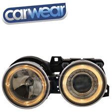 BMW E30 3-Series Shadow Chrome Angel-Eyes Head Lights 318i 318is 320i 323i 325i
