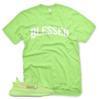 *GLOWS* BW BLESSED T Shirt for Adidas Yeezy Boost 350 v2 Glow In The Dark