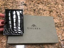 Ghurka Glossy Black Genuine Alligator Jotter/Agenda