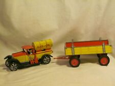 reproduction tin toy GAS OIL truck tanker wagon * no key wind up clock mechanism