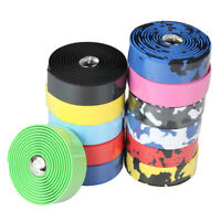 1Pair Cycling Road Bike Bicycle Sports Cork Handlebar Drop Bar Tape+ 2 Bar Plug