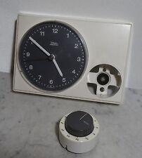 mid century design elektromechanische Diehl Küchenuhr Uhr + Kurzzeitwecker 60's