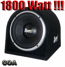 """SUBWOOFER per AUTO 10"""" ATTIVO AMPLIFICATO 1800 WATT 25 CM. BOX CHIUSO-REFLEX!!!"""