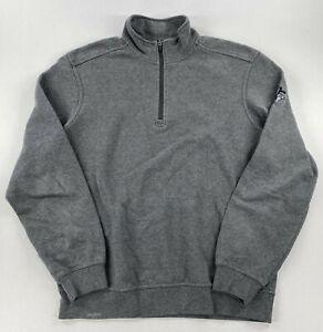 Ping Golf Mens 1/4 Zip Pullover Sweatshirt Gray Size Medium