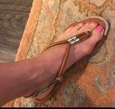 Dolce Vita thong Leather and Snake Skin sandals size 9