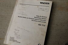 WACKER RD 11V RIDE ON ROLLER COMPACTOR Parts Manual Book List catalog spare 2003