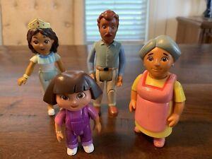 Dora The Explorer Family Action Figure Lot Of 4! Mattel Posable Figures Family