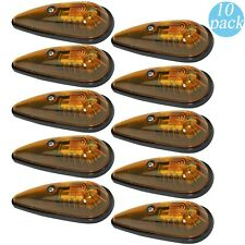 10 Amber Teardrop Sealed Top Clerance Cab Marker Roof Running Lights Kit Utility