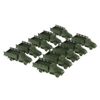 10pcs Military Armored Vehicle Model Truck Toy Soldiers Men Accessories