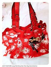 ❤️🌻🐝JUICY COUTURE Red Buttercup Daisy Bumble bee Handbag €210 FAST📮🌻🐝❤️