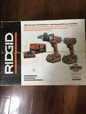 RIDGID R9200 X4 18v Hyper Li-Ion Cordless Hammer Drill & Impact Driver Combo NEW
