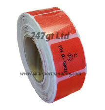 EC 104 -R RED REFLECTIVE CONSPICUITY TAPE 45mm squares x 25 METERS