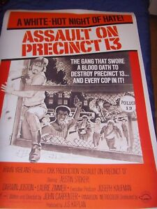 Assault on Precinct 13 Poster A1 Size 24x36 Classic Reproduction