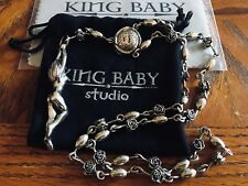 King Baby Studio Rosary Necklace with Naked Lady silver
