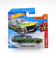 Fire Green Hot Wheels 70 Chevelle SS Wagon 1:64 Hot Wheels Diecast Toy Cars