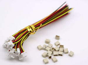 20 Sets JST SH 1.0MM 3-Pin Connector plug male female with Wire 100MM