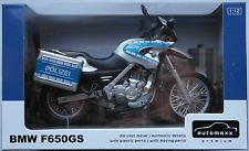 JoyCity Automaxx - BMW F650GS silbermet./blau POLIZEI 1:12 Neu/OVP Motorrad
