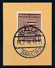 Ungeprüfte deutsche Briefmarken der sowjetischen Besatzungszone mit Briefstück