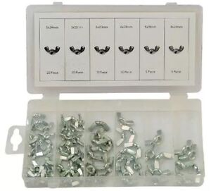70pc Wing Nut Assortment with Metric Threads 5mm - 8mm Butterfly Screw Fixing