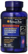 Puritan's Pride Triple Strength Glucosamine, Chondroitin & MSM Joint Soother, 90