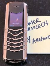 Genuine Vertu Signature 18K WHITE Gold The Flagship Phone Mint RARE Must Have