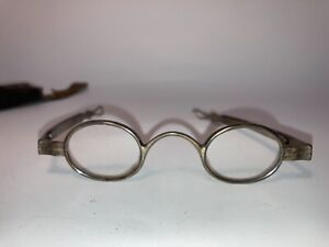 Antique American Eyeglasses w/ Case by G. Cooper Adjustable Arms Uncommon