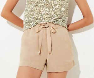Ann Taylor LOFT Elasticized Drawstring Shorts Size X-Large Natural Tan Color NWT