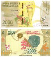 Madagascar 2000 Ariary 2017 P-101 Banknotes UNC