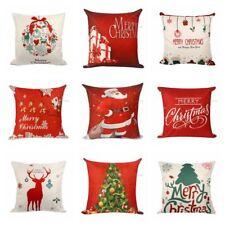 18'' Xmas Cotton Pillow Case Linen Cushion Cover Merry Christmas Home Decor Hot