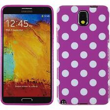 Silicone Case for Samsung Galaxy Note 3 Polkadot Design:11 + protective foils