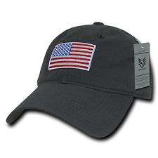 RWB Gray US American Flag United States America Polo Tonal Baseball Hat Cap
