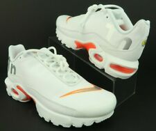 Nike Ar0005-100 Air Max Plus Tn Se Big Logo White Silver Orange, 6Y, Women's 7.5