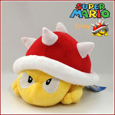 "Spiny Koopa Super Mario Bros Plush Soft Toy Red Thorn Beetle Stuffed Animal 8"""