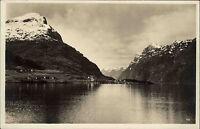 Nordfjord Norwegen Norge AK ~1930 Fjord See Berge Gebirge Landschaft Liggende