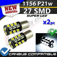* X2 1156 27 SMD P21w Blanc CANBUS Ampoules DRL Daytime Running Light REVERSE DEL