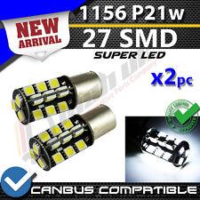 * X2 1156 27 SMD P21w WHITE CANBUS BULBS DRL DAYTIME RUNNING LIGHT REVERSE LED