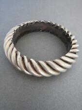 Vintage Carved Cuff Bangle Bracelet Danish