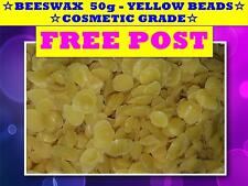 BEESWAX  50g ☆ YELLOW BEADS BEES WAX☆COSMETIC GRADE☆CANDLES☆AROMATHERAPY☆SOAPS