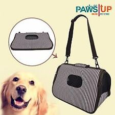 Paws UP Portable Foldable Dog Cat Pet Carrier Travel Bag ( black/white)
