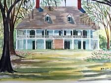 Jones PARLANGE Plantation Art Print South Louisiana mansion plantation colonial