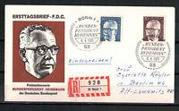 Berlin, FDC + Einschreiben Heinemann MiNr. 365 + 366 ESSt Berlin 08.04.1971