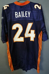 REEBOK CHAMP BAILEY #24 DENVER BRONCOS NFL FOOTBALL SHIRT JERSEY CAMISETA SIZE L