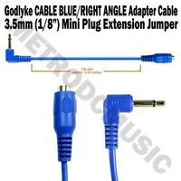 "Godlyke CABLE BLUE/R RIGHT ANGLE 3.5mm 1/8"" Mini Plug Extension Jumper Adapter"