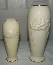 2 Lenox Bud Vases Rose Blossom Collection Fine China Vase Decorated in 24k Gold